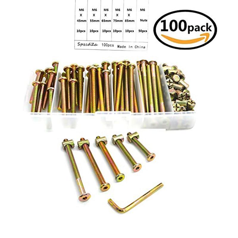 Muebles Conector tornillos, ba/ñado en Zinc, M6/x 35/mm, 100/unidades
