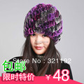 hot sale  rex rabbit hair Fur women's spiral warm hat knitted hat