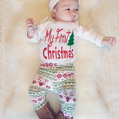 5b2cc6bcf 4PCS Newborn Baby Boy Girls Romper Tops+Pants+Hat +headband Outfit ...