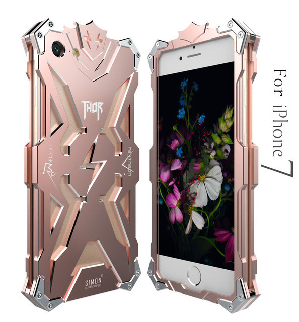 Zimon Original Design metal Shell Cool Metal Aluminum THOR IRONMAN protect phone cover cases for iphone 7 8 SE 5 5S 5C 6 6S plus