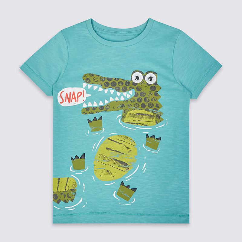 HTB1pJlgXkCWBuNjy0Faq6xUlXXaL - brand 2018 new fashion kids clothing 100%cotton blouse childrens clothes baby boy t shirts boy's top tee cartoon car Dinosaur