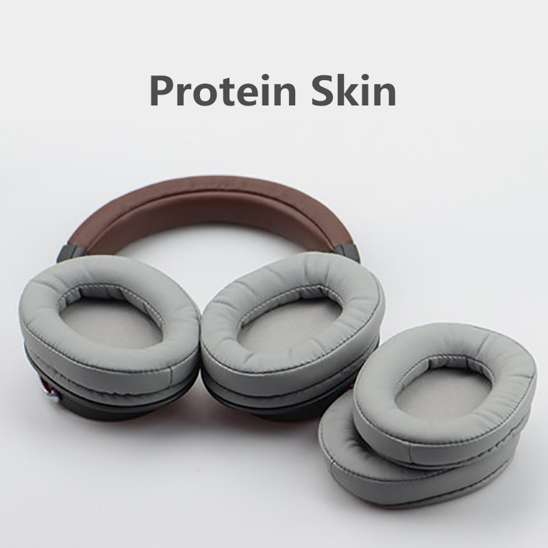 Image 3 - Foam Ear Pads Cushions Protein skin for Audio Technica ATH MSR7 M50X M20 M40 M40X SX1 for Sony Headphones High Quality 12.5-in Earphone Accessories from Consumer Electronics