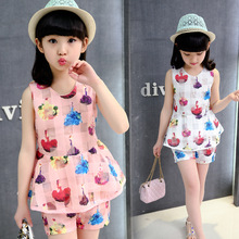 2018 summer big girls dress girl clothing set kids sleeveless two piece set princess dress 5 6 7 8 9 10 11 12 13 14 years цена