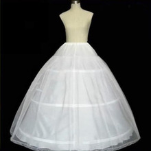 Free Shipping 0.39Kg Big White 3 Hoop Wedding Bridal Gown Dress Petticoat Underskirt Crinoline Wedding Accessories