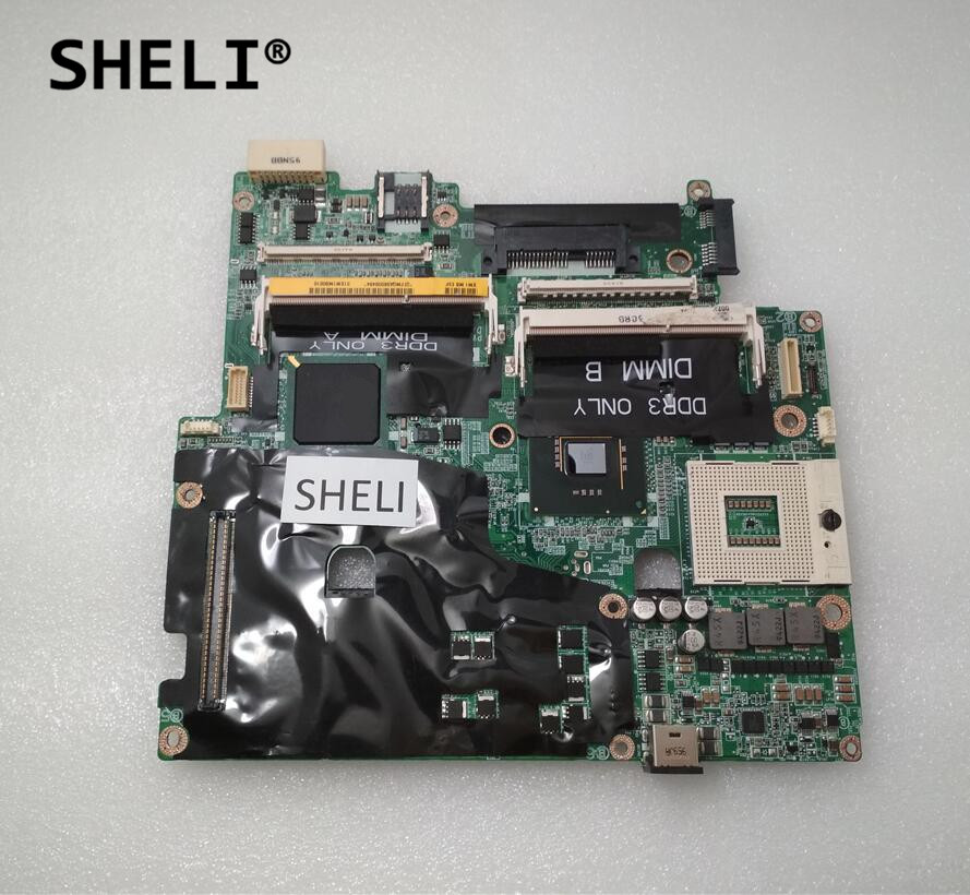 SHELI For Dell M6400 Motherboard 0U222F CN-0U222F U222F with 4 memory slots sheli for dell 1645 motherboard with hd 4670 1gb da0rm5mb8e0 cn 0y507r 0y507r y507r