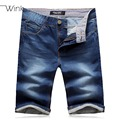 Men's Short Jeans Men Denim Overalls Shorts Monkey Wash Low Waist Straight Plus Size 28-42 Summer Casual Jeans Masculino S119