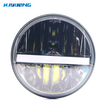 New 36w for Land Rover Defender 90/110 7Inch Black LED Headlight With White DRL&Amber Turn Signal Projector Headlamp