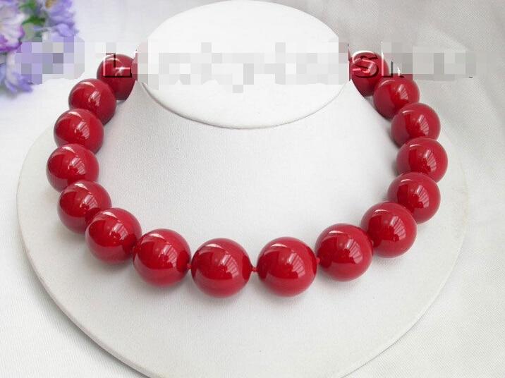20mm 100% collier rond rouge de perles de coquille de mer du sud ^ ^ ^ @ ^ Noble style naturel fin jewe livraison gratuite20mm 100% collier rond rouge de perles de coquille de mer du sud ^ ^ ^ @ ^ Noble style naturel fin jewe livraison gratuite