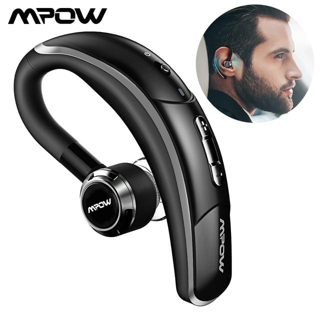 Mpow 028 Bluetooth 4.1 Auriculares para auto con micrófono y 6 horas de conversación Auriculares manos libres Auriculares inalámbricos para conductor