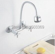 Латунь материал настенные хром горячей и холодной кухонной мойки бассейна кран смеситель бассейна кран