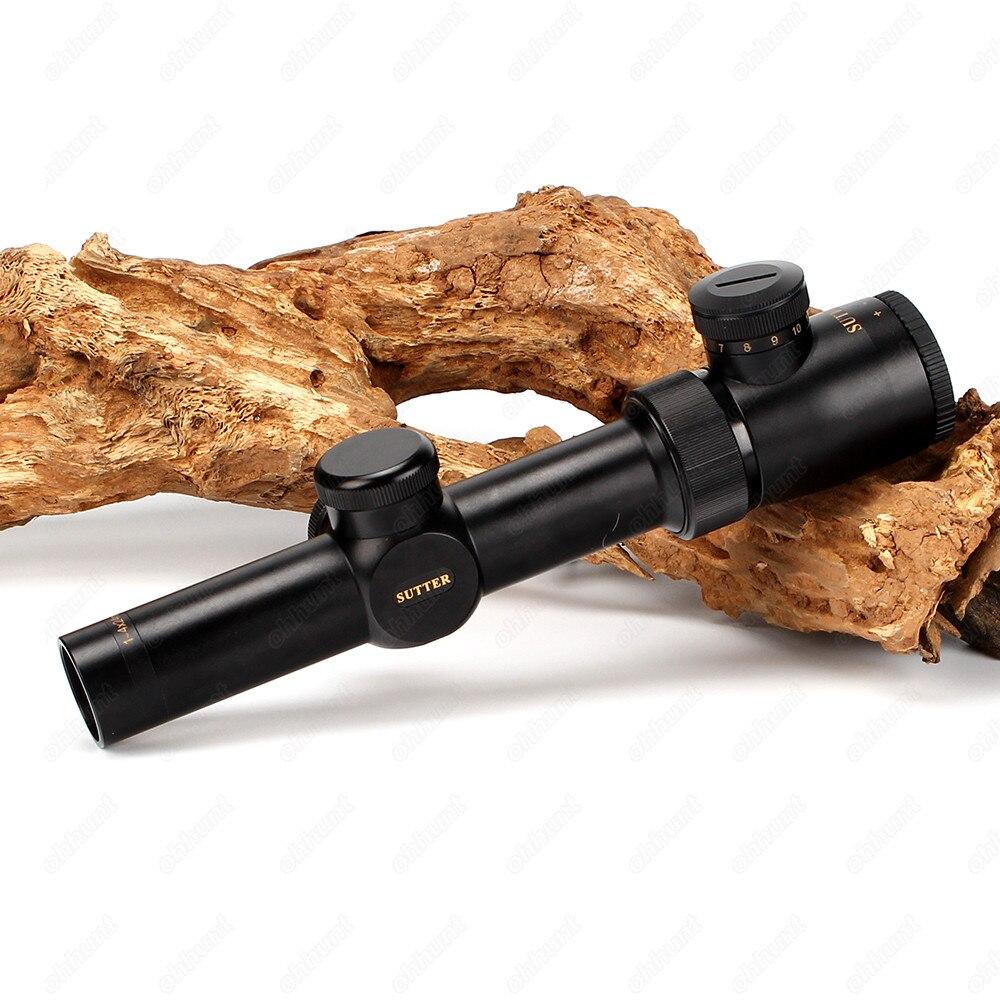 SUTTER 1-4X24 Tactical Riflescope Optische bezienswaardigheden Red - Jacht - Foto 2