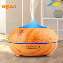 Essential Oil Humidifier Wood Diffuse 300ml LED Lamp Timer Function with Adaptor Measuring Cup Atomizer Aromatherapy Home Office