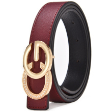 8522beed5a5 Luxury Narrow Double G Designer Belts Lady High Quality Women Girl Genuine  Real Leather GG Buckle