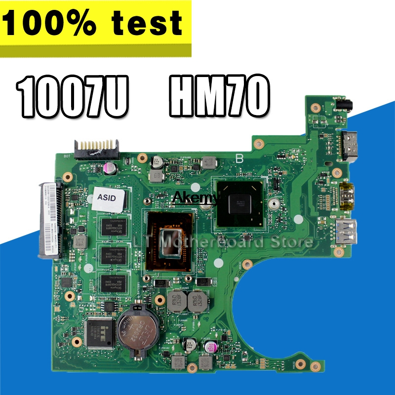 Original X200CA Mianboard For ASUS X200CA Laptop Motherboard REV:2.1 With 1007U 2G RAM HM70 USB3.0 Mainboard 100% Tested S-4