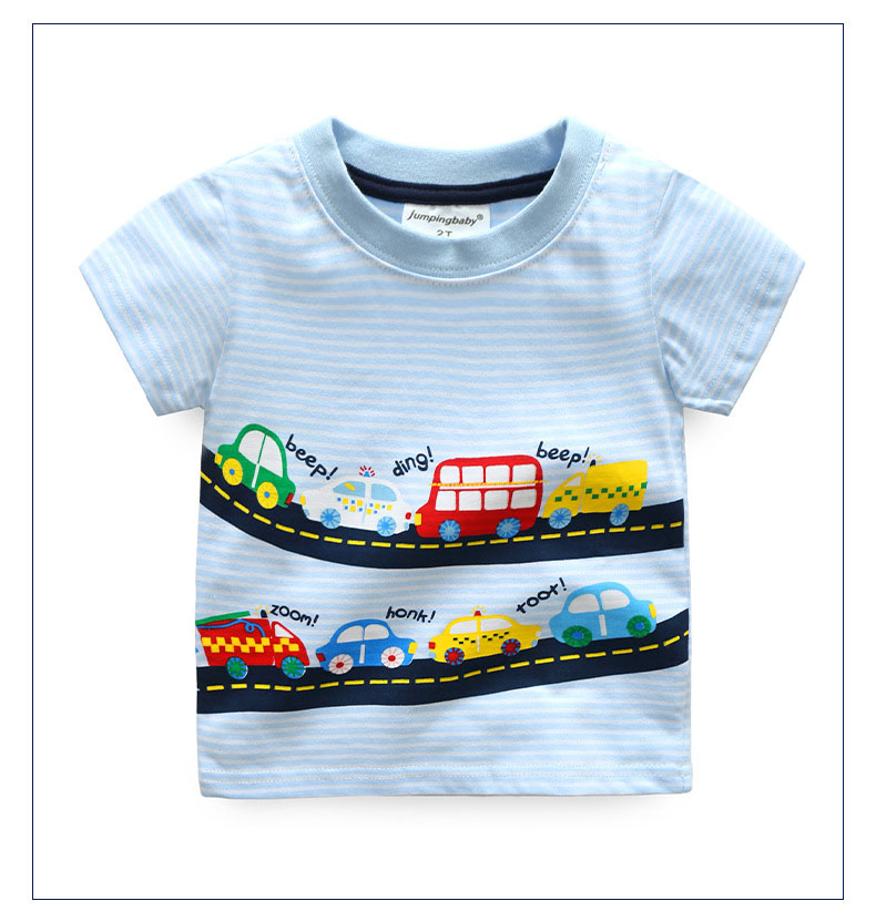 HTB1pJn2QFXXXXbzXFXXq6xXFXXXb - 2017 New Brand top quality kids clothing summer boys short sleeve O-neck t shirt Cotton embroidery cartoon striped tee tops