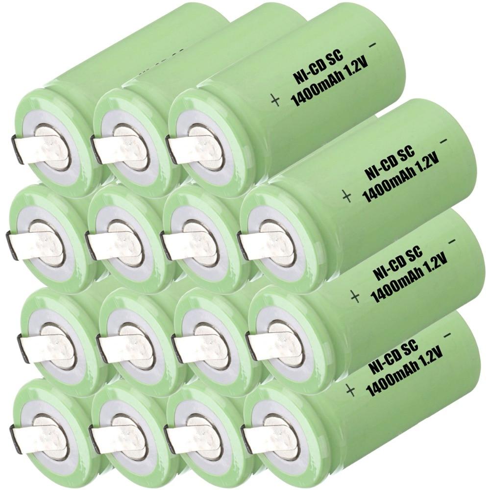 Capacidad verdadera! 15 unids SC batería subc batería recargable banco de la ene