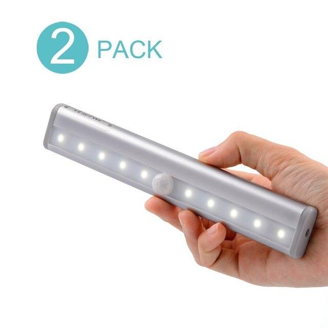 Wireless Motion Sensor Light Stick On Portable Battery Ed 10 Led Closet Cabinet Night Stair Step Wall