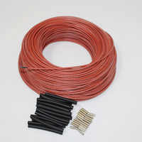 30m to 100m Red Silicone Rubber Far Infrared Warm Floor Room Thermostat Carbon Fiber Heating Cable