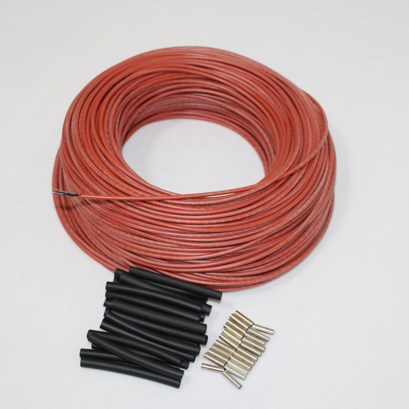 30 3m a 100m de Borracha Vermelha de Silicone Piso Quarto Termostato de Aquecimento da Fibra do Carbono do Infravermelho Distante Quente Cabo