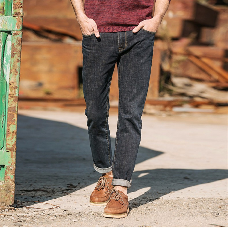 new fashion Spring autumn mens jeans slim fitness cotton elastic pants male clothing denim trousers