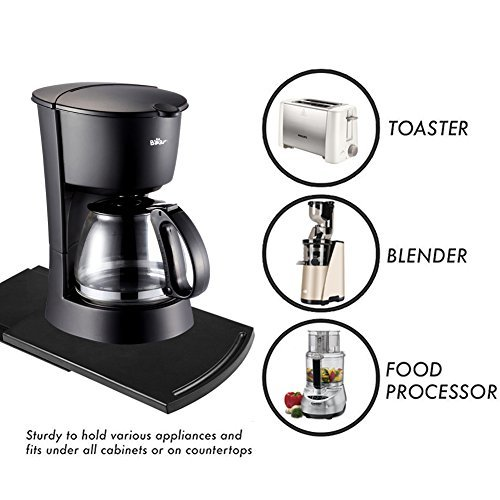 Kitchen Caddy Sliding Coffee Tray Mat Under Cabinet Liance Maker Toaster Countertop Storage Moving Slider Dropshipping In Café Furniture Sets From