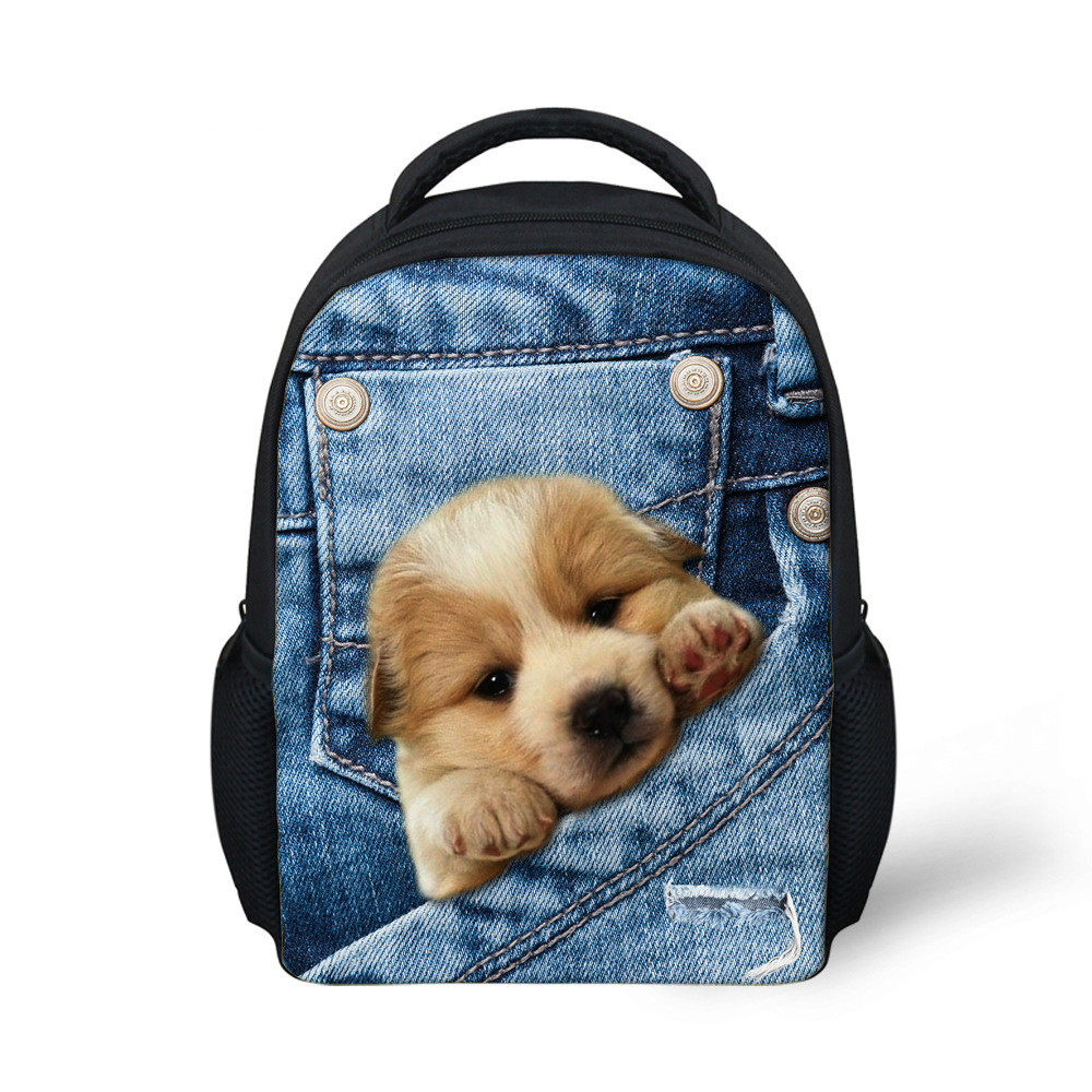 picture photo custom 3D effects Primary school bag customized shoulder bag Campus Cowboy Leprechaun pocket free design backpack in Backpacks from Luggage Bags