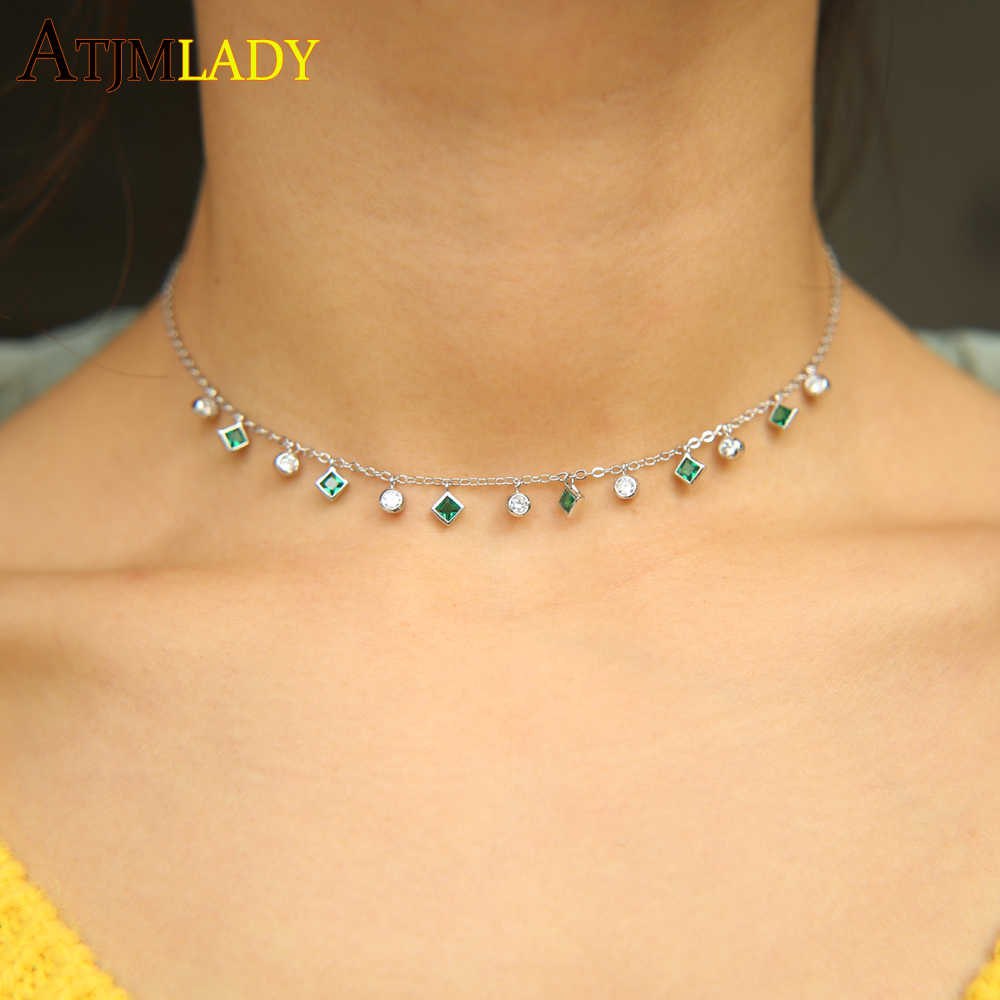 Copper and Green Pearl Choker