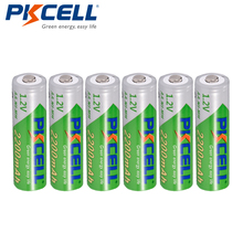 6 x PKCELL AA NiMH Recarregavel Bateria Durable faible autodécharge 1.2V 2200mAh 2A Ni MH batterie Rechargeable Batteries Bateria