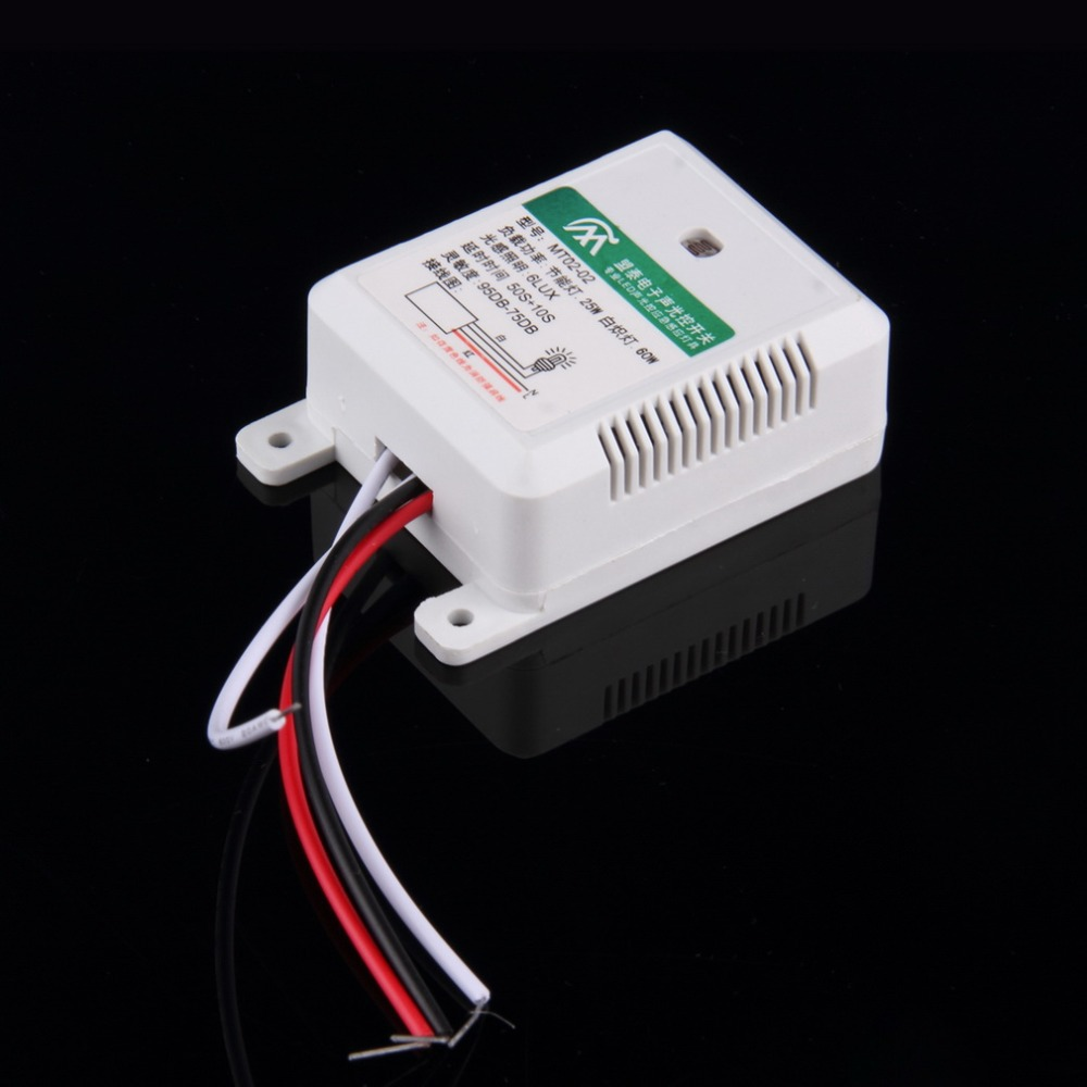 MT02-02 95DB-75DB Intelligent Auto On Off Light Sound Voice Sensor Switch Time Delay AC 160-250V Hot Search voice control switch two wire system wall mount sound activated and light snesor switch with 30s time delay ac 110 250v