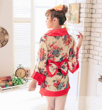 купить Japanese Cosplay Costume Floral Sexy National Trends Women Sexy Kimono Yukata with Novelty Evening Dress дешево
