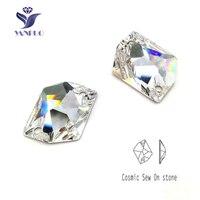 YANRUO #3265 Alle Maten Clear Cosmic Naaien Op Strass Platte Achterkant Strass Naaien Crystal Voor Trouwjurk Decoratie