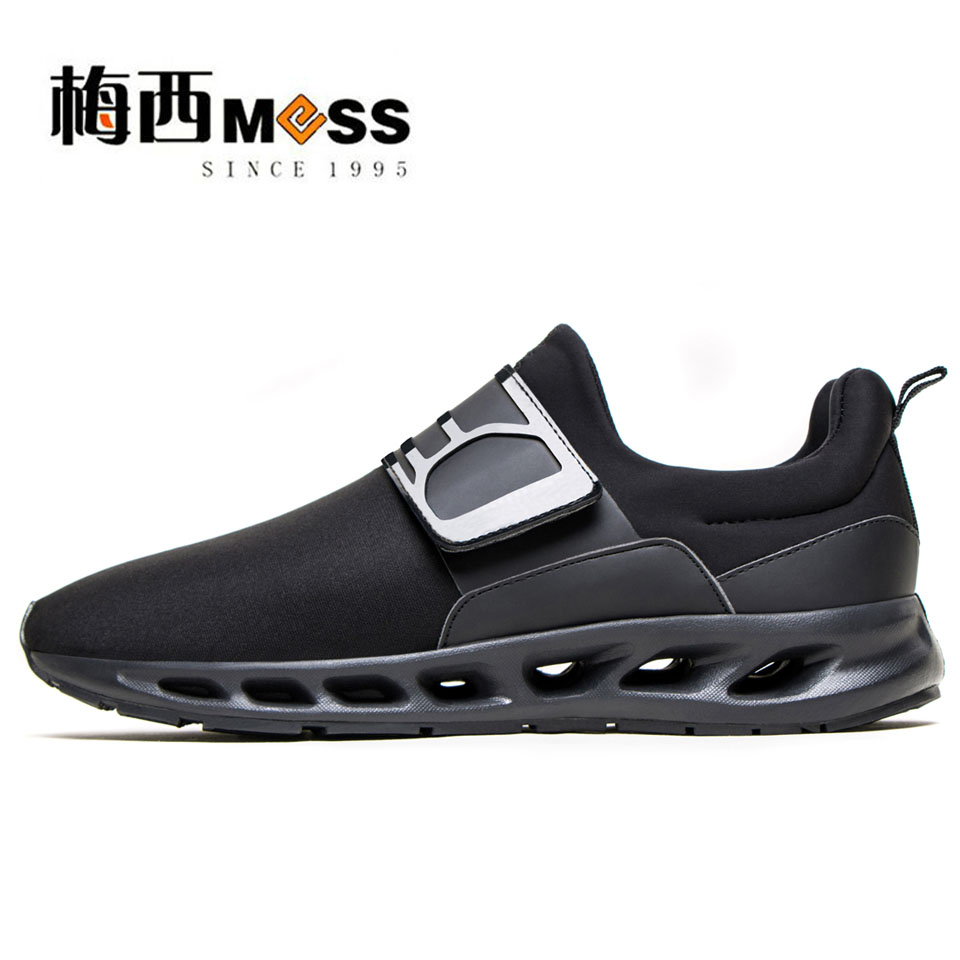 ФОТО 2017 air mesh men casual shoes breathable black comfortable trainers meixi brand shoes men