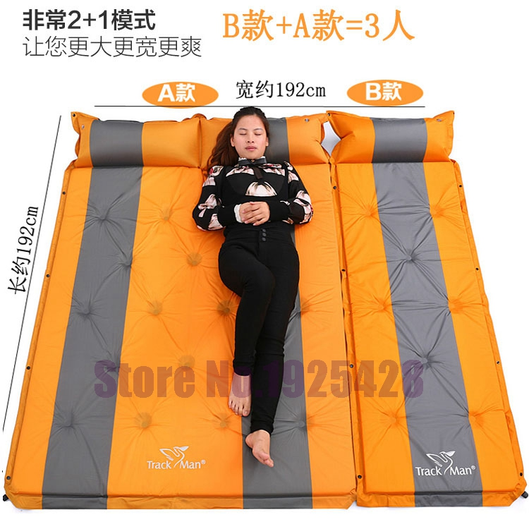 3 person automatic inflatable mattress self inflating moisture-proof pad outdoor camping tent BBQ cushion fishing beach mat high quality outdoor 2 person camping tent double layer aluminum rod ultralight tent with snow skirt oneroad windsnow 2 plus