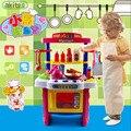 Chegada nova 40 pcs cozinha crianças definir menina bebê puzzle brinquedo cozinha cozinha simulação crianças cozinha play set crianças legumes
