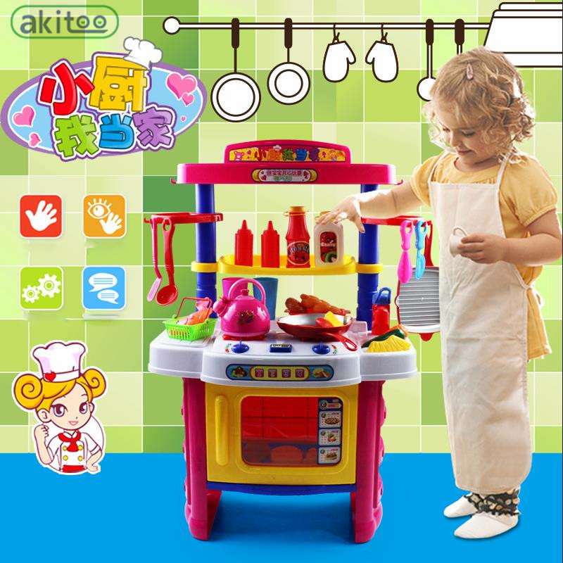 New arrival 40 pcs children kitchen set baby girl puzzle for Kitchen set for babies