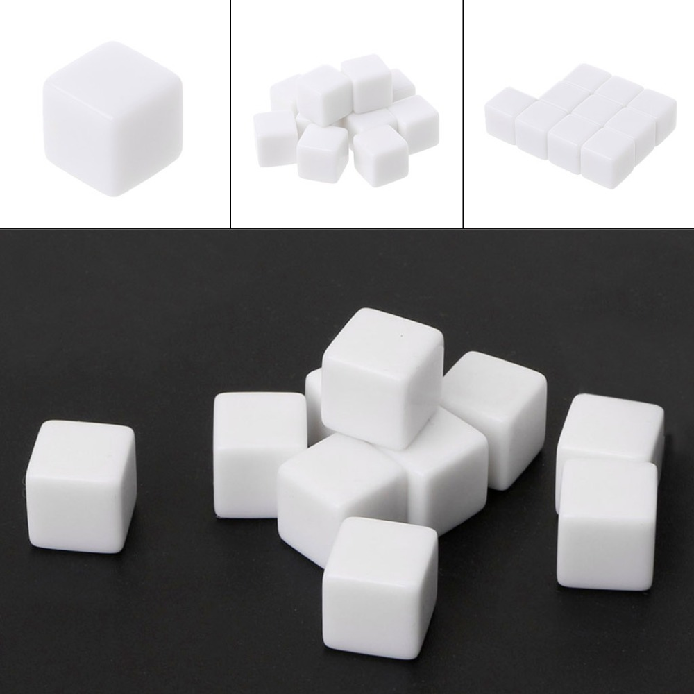 <font><b>D6</b></font> <font><b>Dice</b></font> <font><b>12mm</b></font> <font><b>Die</b></font> Six Sided Table Gaming <font><b>Dice</b></font> Blank For Role Playing Toys 10PCS/Pack M03 image