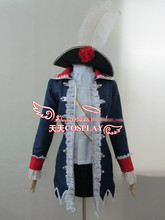 APH Women's Dress Axis Powers Hetalia Prussia Cosplay Costume Coat+shirt+skirt+hat Full Set Free Shipping