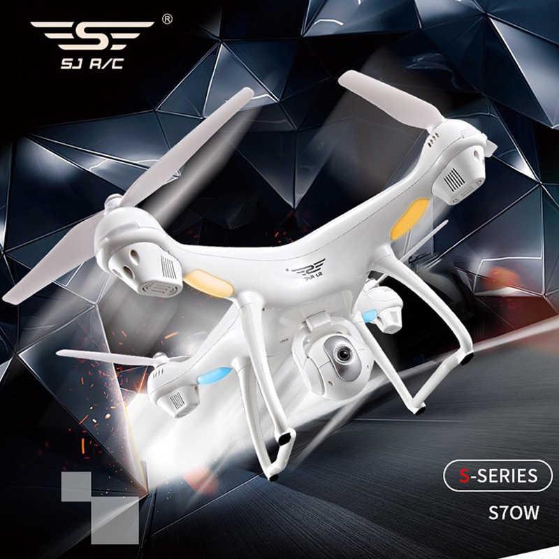 Sjrc S70W GPS Kamera RC Drone Quadcopter Helikopter dengan 1080 P Sudut Lebar HD Kamera Ketinggian Terus V S20w S30w z5 F11 RC Drone