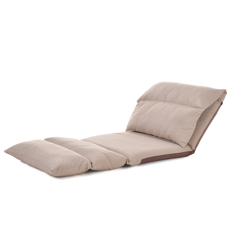 Floor Foldable Chaise Lounge Chair Living Room Furniture Modern Folding Adjustable Upholstered Relaxing Chair Reclining Sofa Bed