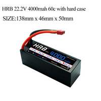 HRB RC Car Lipo 6S Battery Hard Case 22.2V 4000mAh 60C MAX 120C Strap For TRAXXAS Truck RC Helicopter Airplane Quadcopter Part