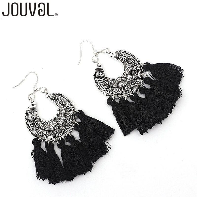 Boho Tassel Earrings Vintage Bohemia Women Fringe Drop Earrings 10 Colors Statement Brand Wedding Jewelry Gift