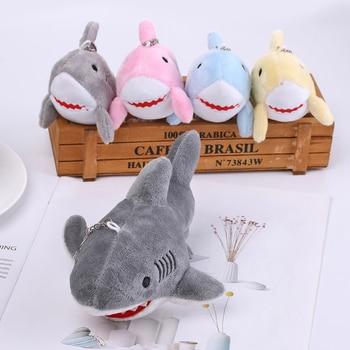 2019 New 2 Sizes 3 Colors Shark Plush Stuffed Toy Doll Mini Small Ocean Animal Key chain Pendant Plush Toys Baby Gift Plush Doll stuffed toy