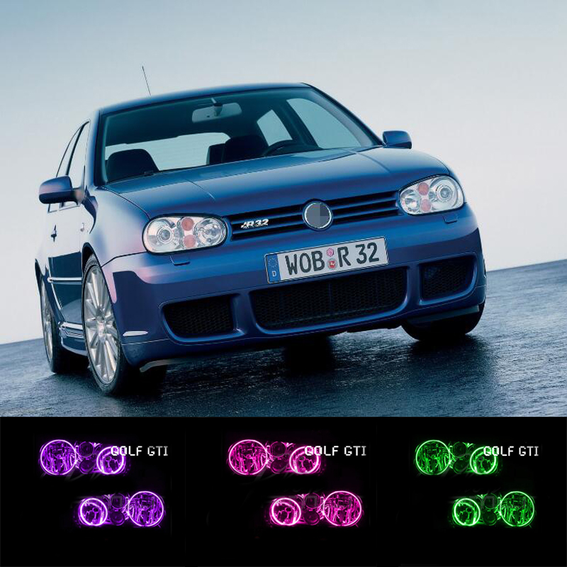 for VW Volkswagen golf 4 GT RGB LED headlight halo angel eyes kit car styling accessories 1998 1999 2000 2001 2002 2003 2004 jeazea glove box light storage compartment lamp 1j0947301 1j0 947 301 for vw jetta golf bora octavia 2000 2001 2002 2003 2004