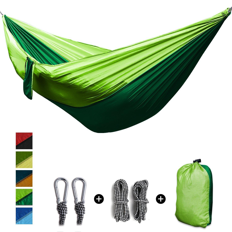 2 personnes Portable Parachute Hamac survie En Plein Air matériel de camping Jardin Loisirs Voyage Double Balançoire suspendue 270x140 cm