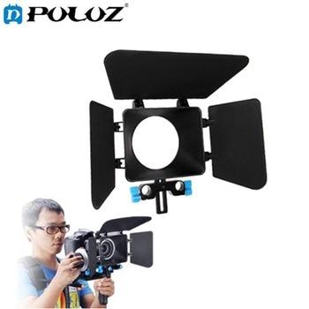 Camshade Matte Box untuk 15mm Batang Rel Follow Focus Rig Kandang kit film film membuat sistem untuk nikon canon dslr camera camcorder DV
