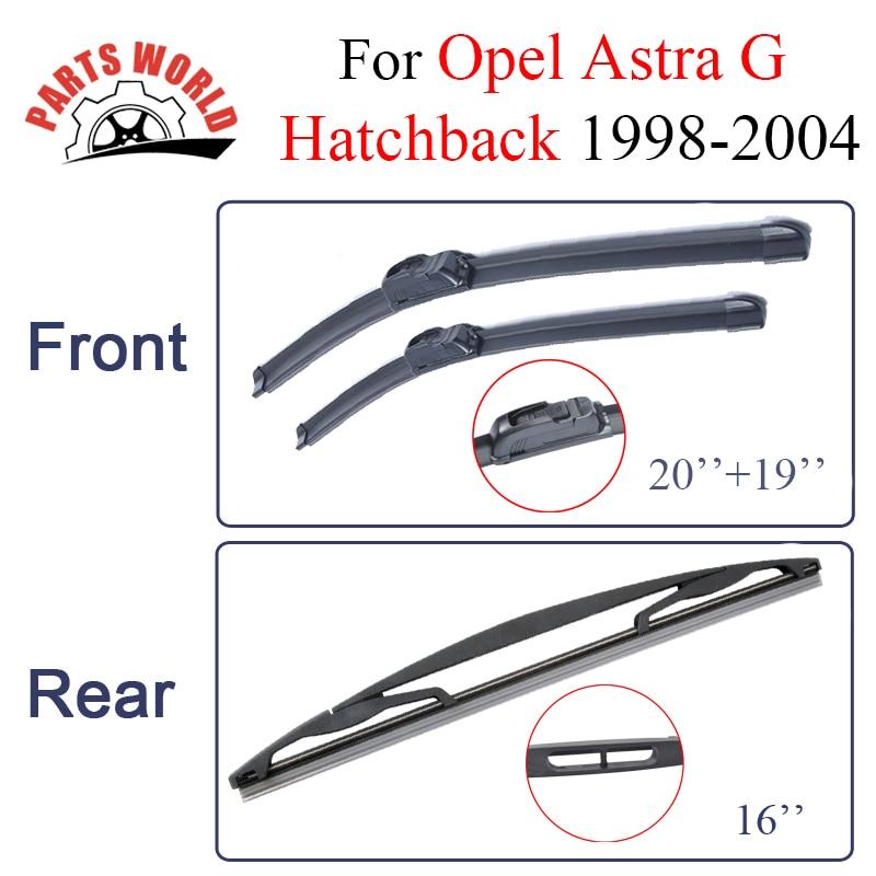Opel Astra G heçbek 1998-2004-cü illər üçün Partsworld Ön və Arxa silecek bıçaqları