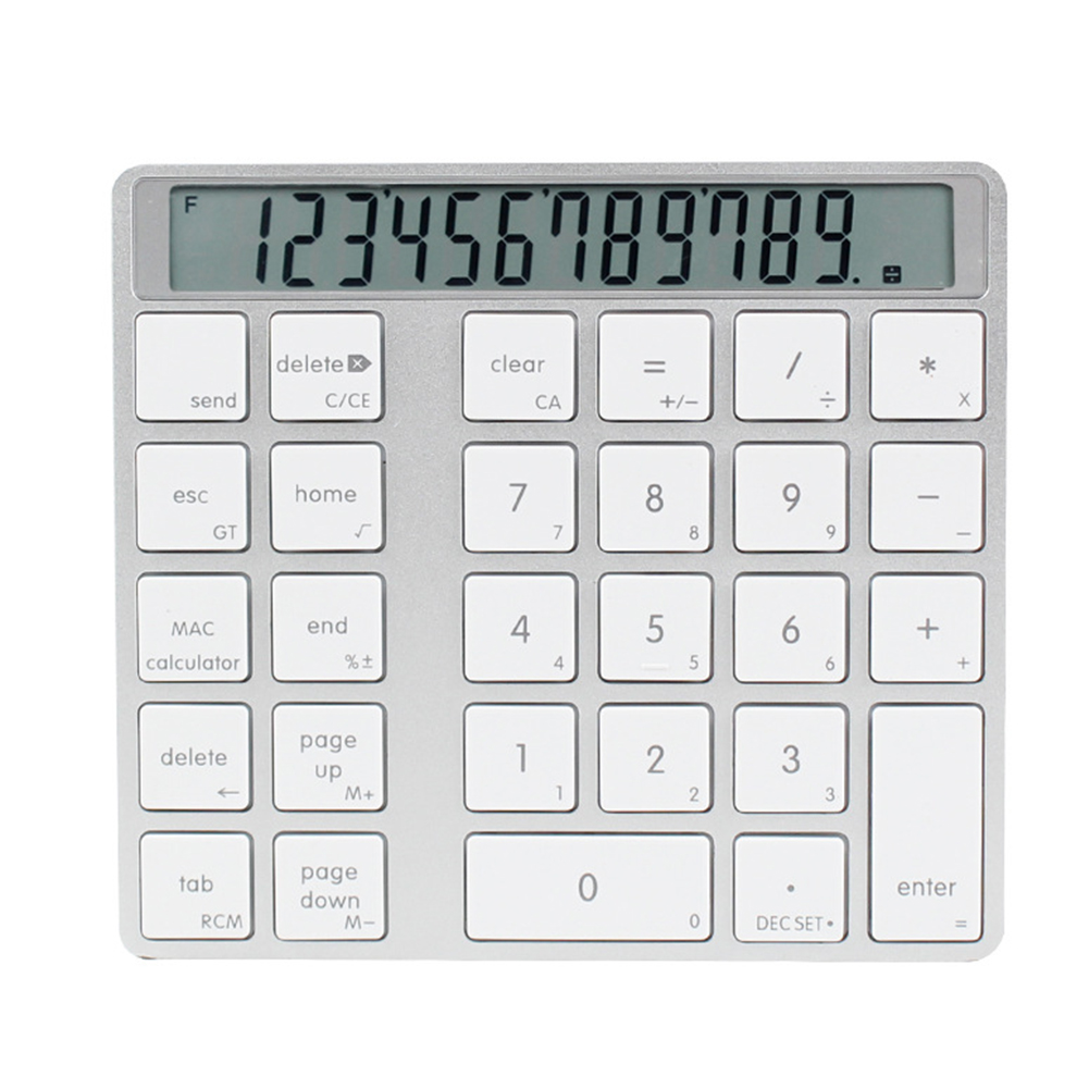 Mini Digital Keyboard Computer 2 In 1 Calculator Portable LCD Display Numeric Keypad Rechargeable Ultra Thin Wireless Bluetooth