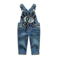 Lato jesień dziewczynek sequined denim jeans spodnie kombinezon dla niemowląt dziewczyna pajacyki Kombinezony kombinezony dzieci dzieci odzież B4