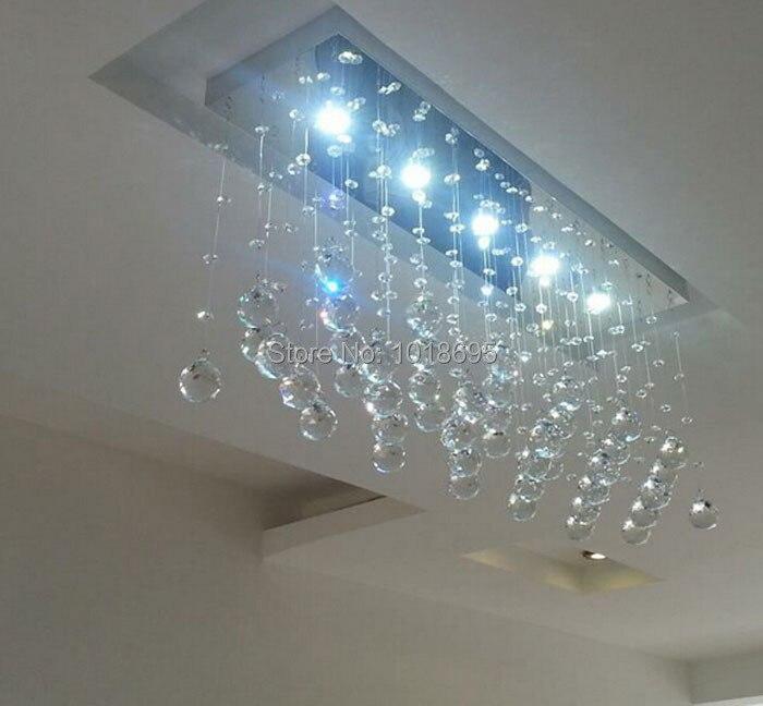 Современные светодиодные лампы кристалла Ресторан Спальня Crystal Light K9 хрустальный шар прямоугольный прихожей Потолочные светильники