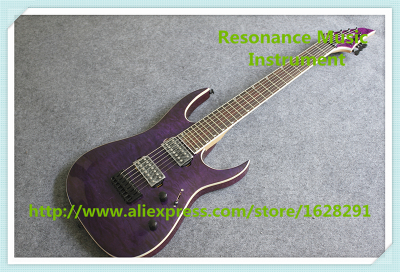 New Arrival Purple Quilted Finish 7 String Jackson Electric Guitar Lefty Custom Available For Sale new arrival glossy black left handed 7 string guitar electric china custom shop for sale